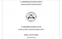 Najava X Harmoniusove škole prava